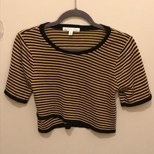 Closet Space black and gold knit crop top L
